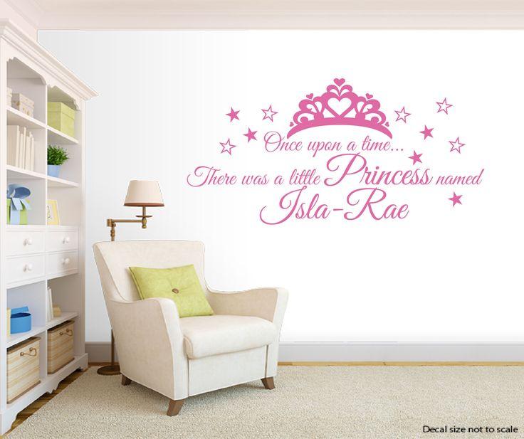 Princess Named Personalised Wall Decal, Nursery Playroom Princess Bedroom  Girls Bedroom Wall Decal Personalized Name Wall Decal Wall Art