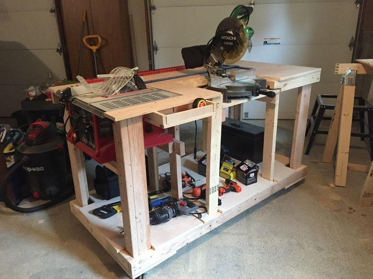 Best 25 Portable Workbench Ideas On Pinterest Miter Saw Table Workbench Plans And Miter Saw