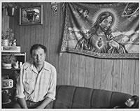 George Nanimahoo, Desmarais, Alberta, juillet 1985 || George Nanimahoo, Desmarais, Alberta, July 1985 © Orest Semchishen