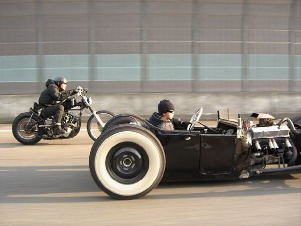 There's just too much awesome in this picture.: Style, Riding, Ratrods, Cars, Motorcycles Bobbers, Rats Rods Motorcycles, Custom Bike, Hot Rods, Hotrods
