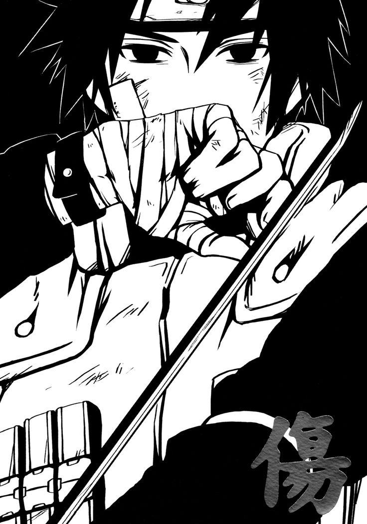 Uchiha Sasuke in Jounin attire