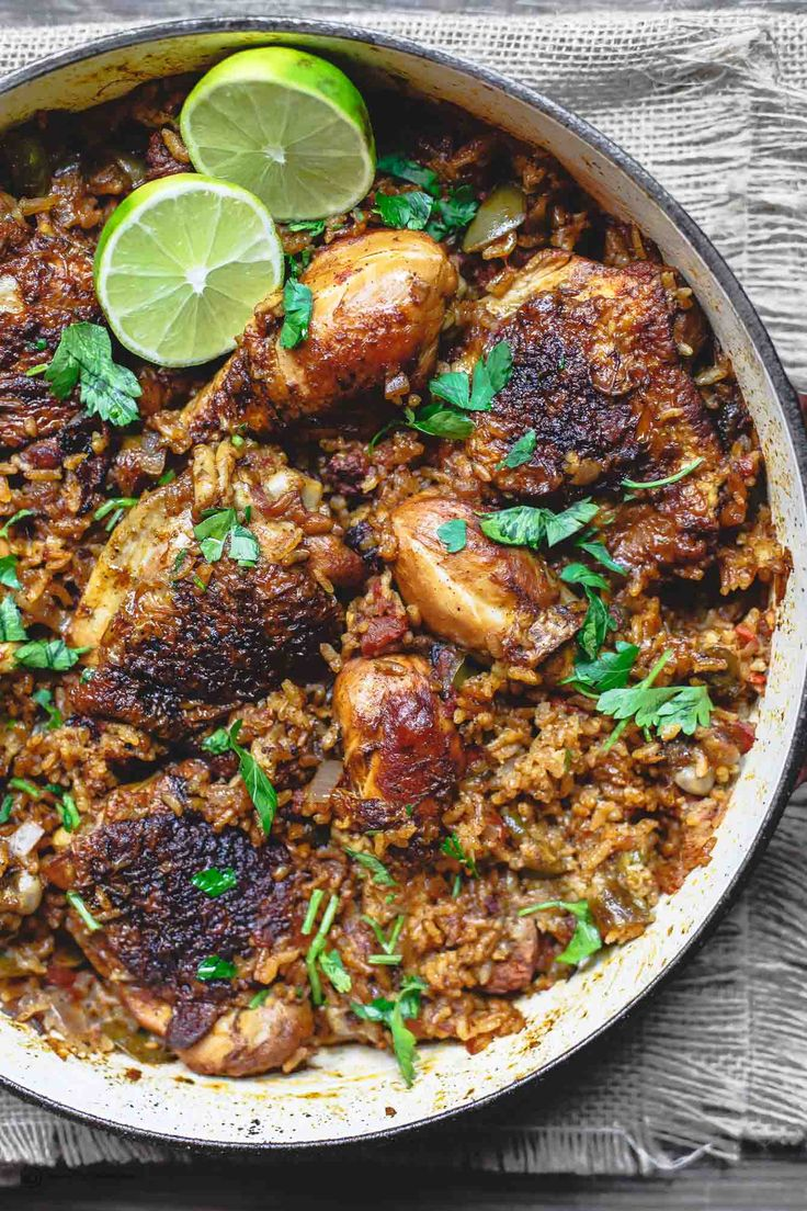 All-star Spanish Chicken and Rice Recipe! A simpler Arroz Con Pollo, doused w/ flavor from smoked paprika and tangy chorizo. Satisfying and comforting dish!