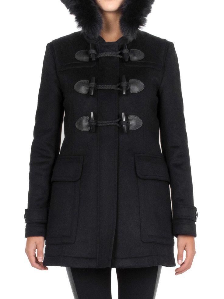 BURBERRY - Montgomery in lana con cappuccio - Nero  - Elsa-boutique.it #Burberry <3