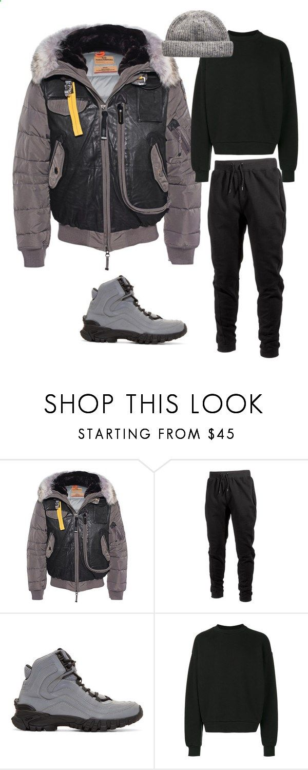 Parachute Jumper by mh3914rp ❤ liked on Polyvore featuring Parajumpers, Ideology, Versace, Alexander Wang, mens fashion and menswear