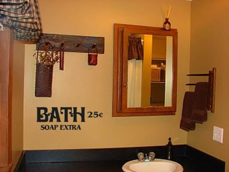 Bath Soap Extra Primitive Bathroom Decor Vinyl Wall Art Decal .