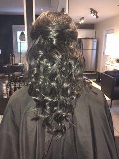 Bridal hair #PartialUpdo #LongCurls #UrbanSpaHairDesigners