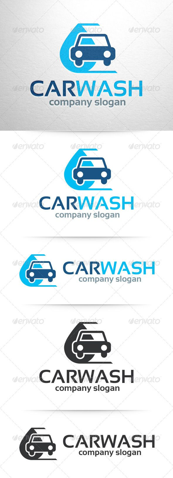 Car Wash Logo v2 — Vector EPS #cleaning #stocklogo • Available here → https://graphicriver.net/item/car-wash-logo-v2/7629868?ref=pxcr