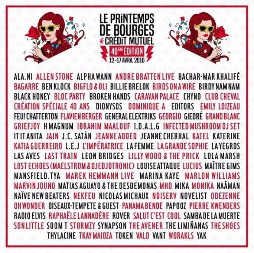 Printemps de Bourges   '16   40th   Apr. 12-17th