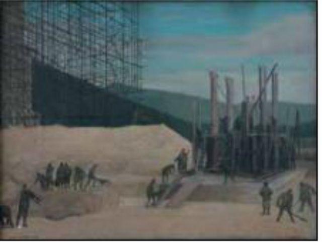 Geniere che construiscono un ponte - Walter Lazzaro-A pintura dos silêncios