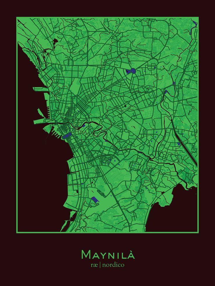 Manila Philippines Map Print 250 best maps