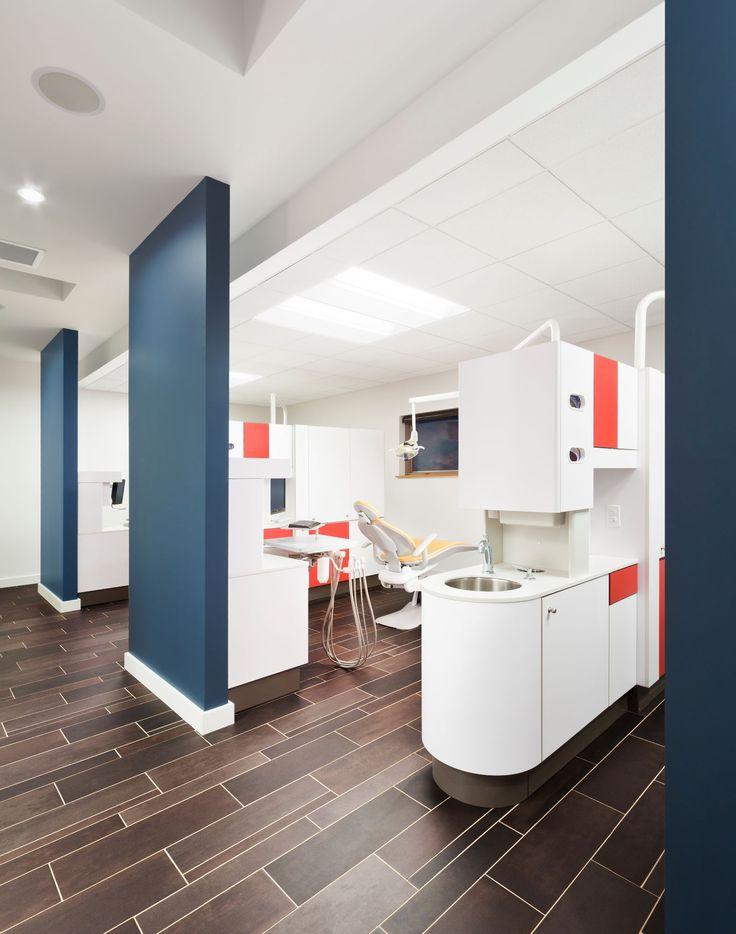 Childrenu0027s Dentist Office. Mod Style, Bright Colors + White Cabinets