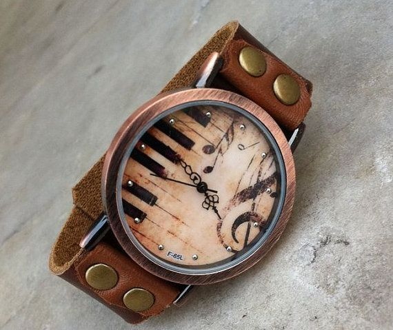1000 ideas about leather watches for men mens music notes leather watch for men for women by trendyyyworld