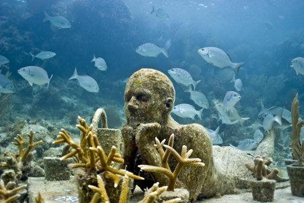 Megacurioso - Arte subaquática: mar do Caribe abriga mais de 400 estátuas