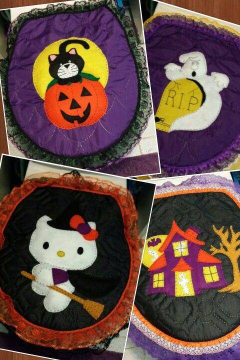 Juegos de baño Halloween, 3 pzas $350.00 pesos