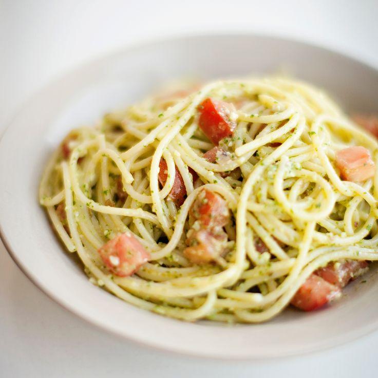Spaghetti with Parsley Almond Pesto | Food & Wine
