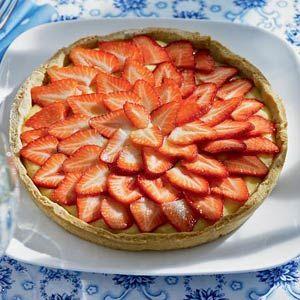 Recept - Open aardbeientaart - Allerhande