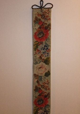 Late Victorian Embroidered Servants Bell Pull