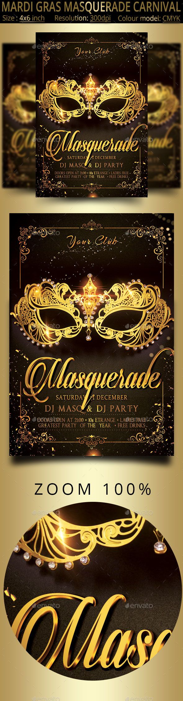 Masquerade Mardi Gras Carnival Party Flyer   #brasil, #brasileiro, #brazil, #brazilian, #carnaval, #carnival, #carnival party, #celebration, #club, #Costumes, #event, #fat Tuesday, #festa, #festival, #flyer, #latin, #mardi, #mardi gras, #mardi gras flyer, #mardigras, #mask, #masks, #masquerade, #Masquerade Ball, #party, #poster, #psd, #rio de janeiro, #samba, #template