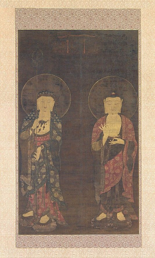 Very few Korean paintings made prior to the twelfth century survive. Buddhist paintings of the Goryeo dynasty were renowned for their delicacy and refinement. Pigments were applied to both the back and the front of the silk, intensifying their hues and luminosity (though some have faded over time and from exposure to light)