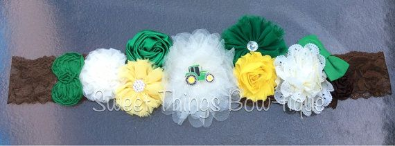 Tractor green and yellow maternity belt sash. Maternity photo's, maternity belt, baby shower, it's a boy, little boy tractor maternity belt