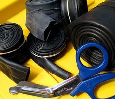 How To: make Ranger Bands -industrial-strength rubber bands made by cutting up inner tubes.