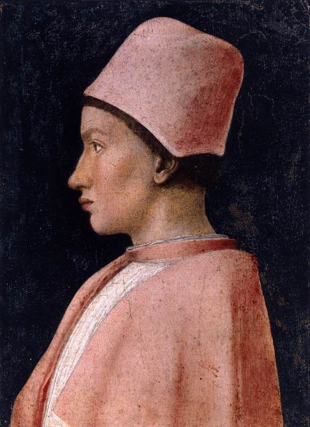 Mantegna Andrea. Portrait of Francesco Gonzaga (c. 1461). Tempera on wood, 25 x 18 cm. Museo Nazionale di Capodimonte, Naples