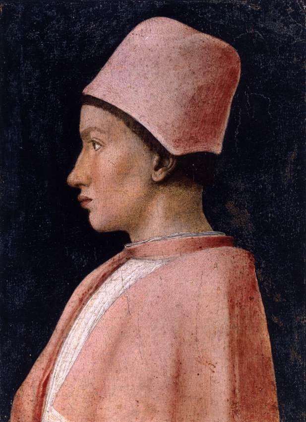 Andrea Mantegna - Portrait de Francesco Gonzaga (vers 1461) - Tempera sur bois, 25 x 18 cm - Musée Capodimonte de Naples, Italie.