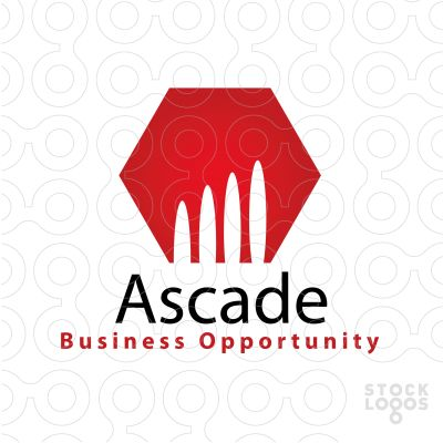 Unique Logo Ascade | http://stocklogos.com/logo/ascade  #business #claw #claws #wild #lion #red #capital #corporate #connect #buildings