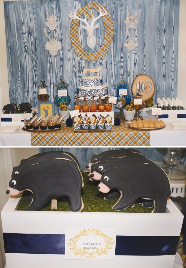 """Modern """"Into the Woods"""" Nature Inspired Party. perfect for nature themed Blue…"""