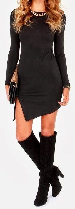 FASHION AND STYLE: Black outfit