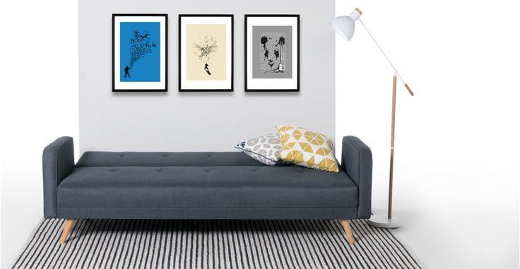 Chou, canapé convertible, bleu quartz | made.com