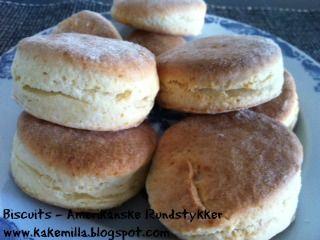 Kakemilla: Biscuits - Amerikanske Rundstykker (Eggfri) / Bisc...