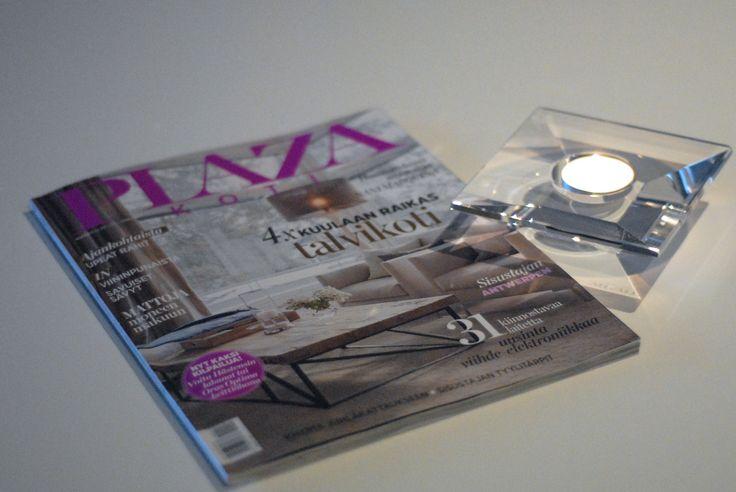 Mivalli Design's Aqua featured in the Plaza Koti Magazine #mivalli #homedecor #finnishdesign #scandinaviandesign #plazakoti