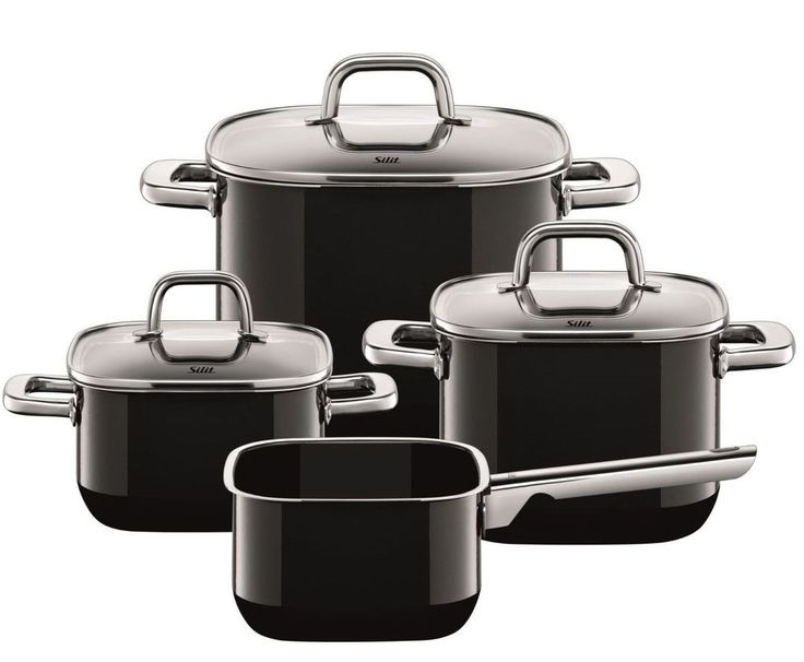 WMF Silit Quadro 7 Piece Cookware Set Black, Made in Germany   #WMFSilit