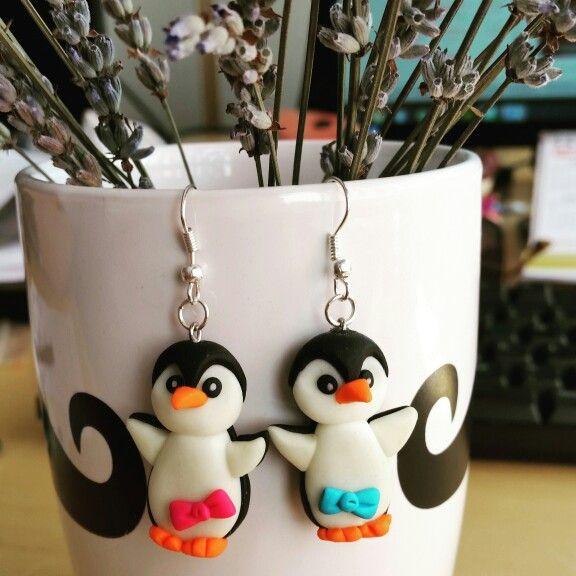 Fimo Penguins earrings