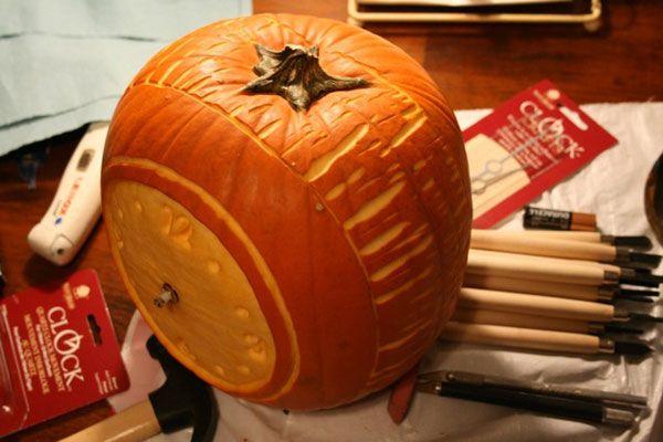 Alarm Clock Halloween Pumpkin Halloween Pumpkins Pumpkin Carving Contest Pumpkin Carving