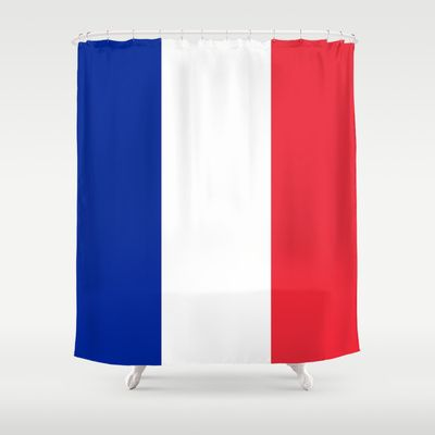 The National Flag of France - Authentic Version Shower Curtain by LonestarDesigns2020 - Flags Designs + - $68.00