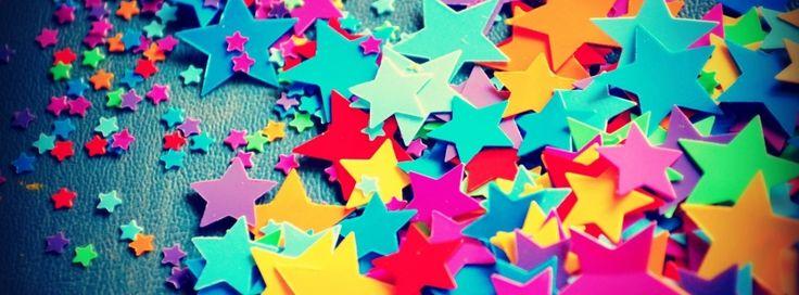 Image for Couverture Facebook d'étoiles de toutes les couleurs