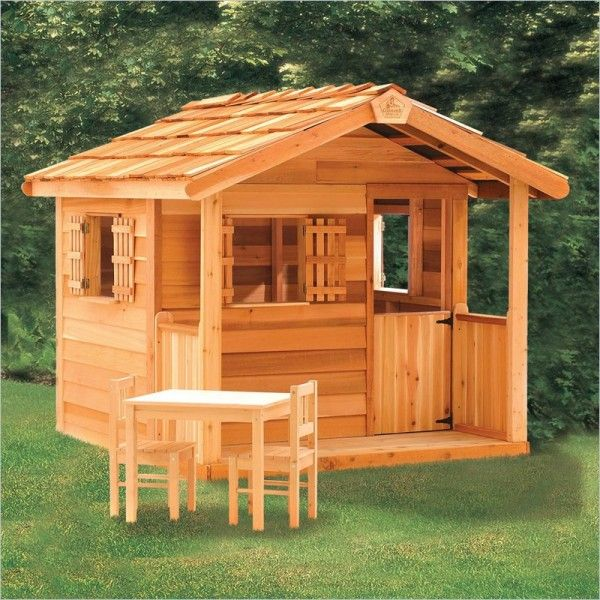 16 best images about log cabin playhouse on pinterest for Kids cabin playhouse