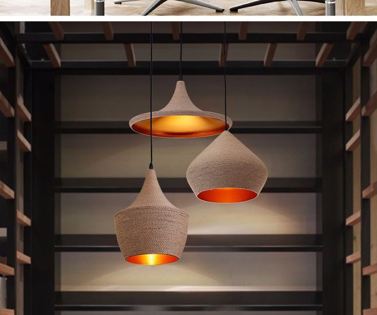 LukLoy Pendant Light Lamp Shade, Retro Nordic Metal Home Industrial Lighting  For Kitchen Island Dining