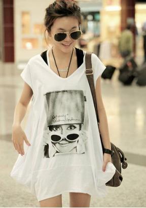 2013 Sommer losen Frauen bat Kurzarm T-Shirt aus DE