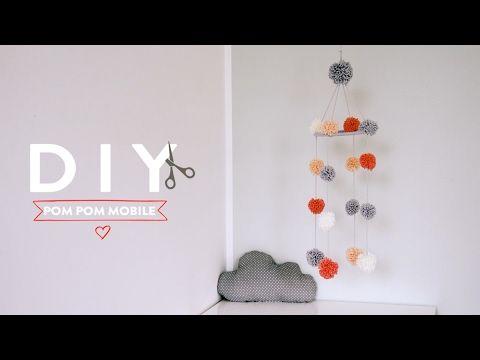 1000 ideas about pom pom mobile on pinterest mollie makes pom pom diy and pom poms - Pompoms kinderzimmer ...