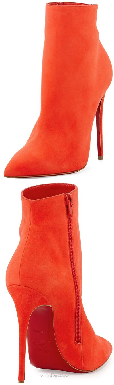 POW! A shock of orange, sizzling on top of the red sole, which has us all knowing that Christian Louboutin's are what's for dinner! :)
