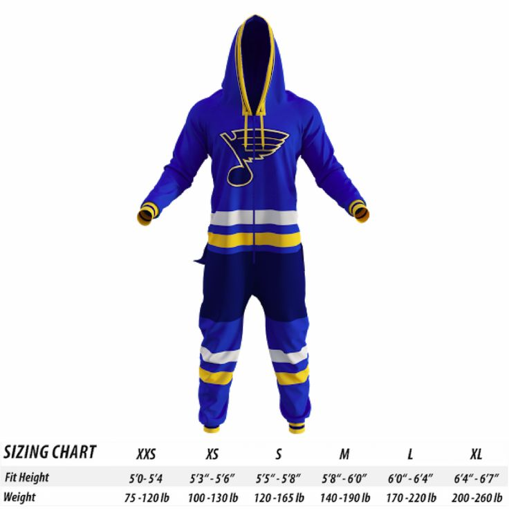 St Louis Blues NHL Onesie Pajamas