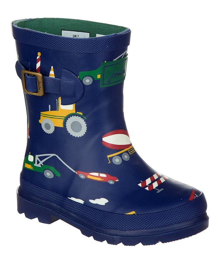 Look what I found on #zulily! Joules Blue Tractor Baby Welly Rain Boot - Kids by Joules #zulilyfinds