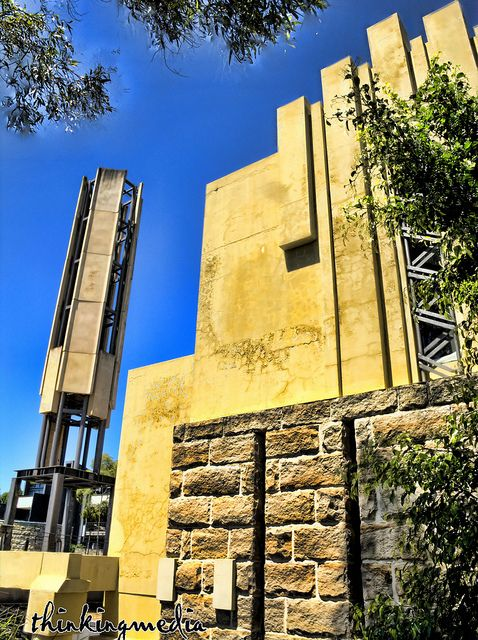 Walter Burley Griffin Incinerator Glebe c.1933. The incinerator was designed c. April 1932. It operated until 1949 and in 1952, its furnace and flue were demolished