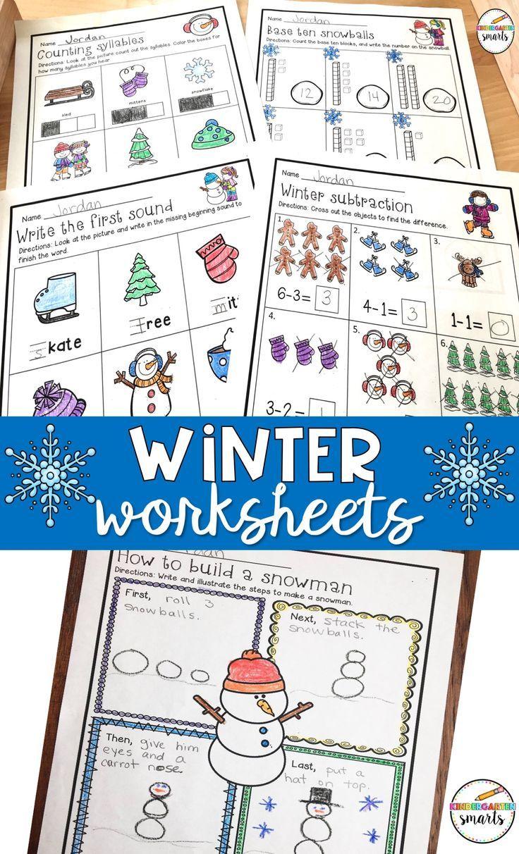 Winter Worksheets Kindergarten Math Kindergarten Math Worksheets Kindergarten Worksheets [ 1212 x 736 Pixel ]