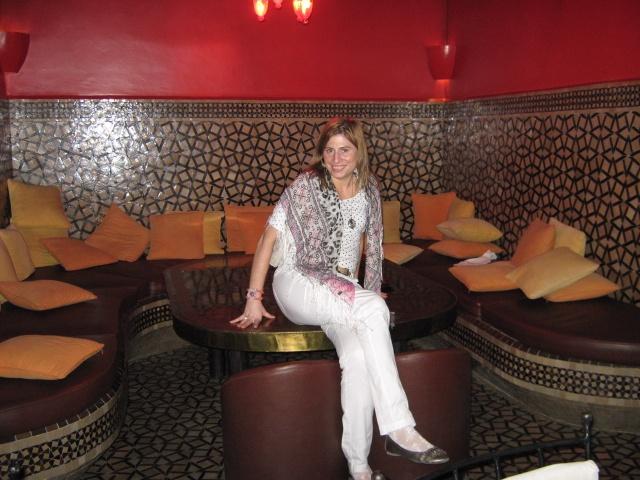 In a beautiful restaurant in Marrackech