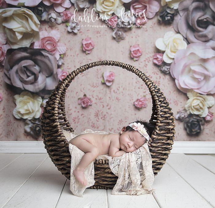 Dallas Newborn Photographer, vintage, circle, sleeping, newborn girl
