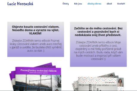 Lucie Horenská a její ebook ZDARMA: Moje cestování aneb příběhy z cest